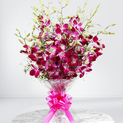 Delightful Orchids Hand Bunch