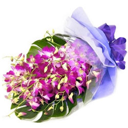 Alluring Purple Orchids Bouquet