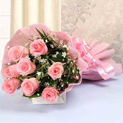 Aromatic Bouquet of Pink Roses