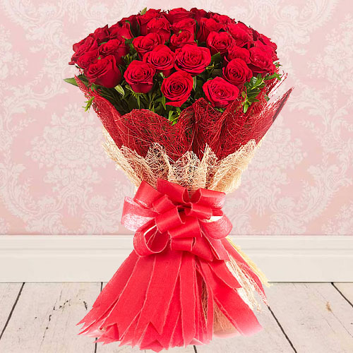 Glorious Bouquet of Red Roses