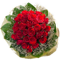 Enchanting Hand Bunch of Two Doz Red Color Roses