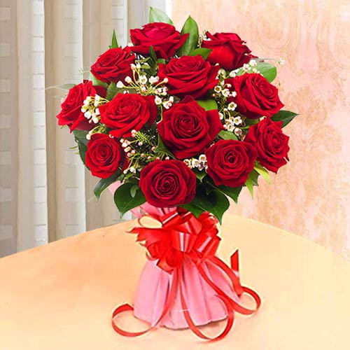 Elegant Red Roses Bouquet