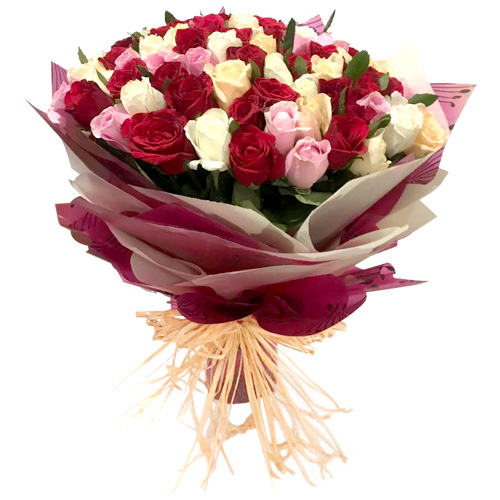 Colourful Roses Premium Bouquet