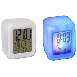 Superb Cube Shaped Colourful Alarm Clock with Touch of Excellence
