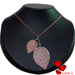 Eye-Catching Heart-Shaped Gold-Plated Necklace with Tassel from Avon