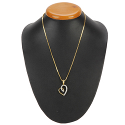 Reverence Special Gold Heart Pendant with Chain
