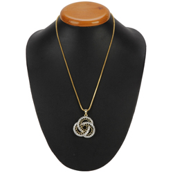 Bonded for Times Brouillon Diamond Pendant with Chain