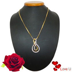 Fascinating Ayla Double Knot Pendant with Chain