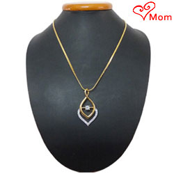 Magnified Phosphorescence Gold Plated Necklace with Fernanda Pendant