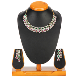 Lavish Luminance Necklace with Earrings Set