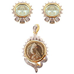Charming Selection of Pendent N Earring Set