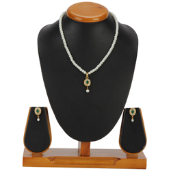 Splendid Pearl Pendent  N  Earring Set for Wedding Season