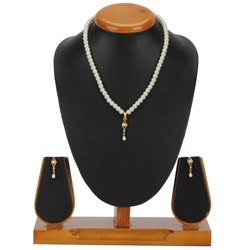 Beautiful Imitation Pendent n Earring Set in Barfi Shape