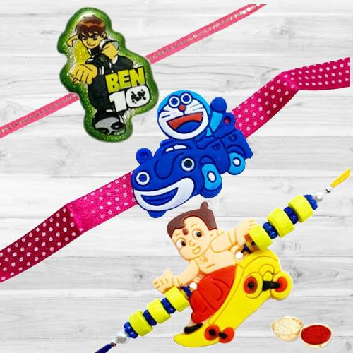 Three Rakhis for Mere Pyare Bhaiya