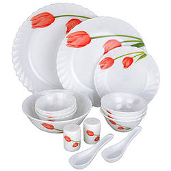 La Opala Melody 15 Pieces Dinner Set for Grand Dinner