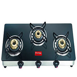 Dynamic Glass-Top Gas Burner Oven from Prestige
