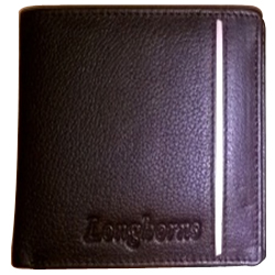 Admirable Black Coloured Longhorn Leather Wallet for Men