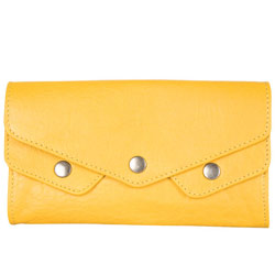 Gaudy Titan Fastrack Yellow Wallet for Ladies