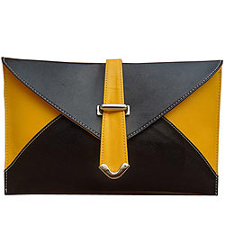 Elegant Yellow and Black Ladies Purse from Spice Art
