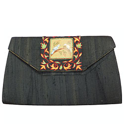 Astonishing Black Coloured Ladies Purse from Spice Art