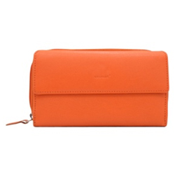 Graceful Orange Coloured Ladies Wallet Made of Genuine Leather from Urban Forest