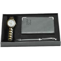 Dainty gift with Watch along with Notepad and Pen