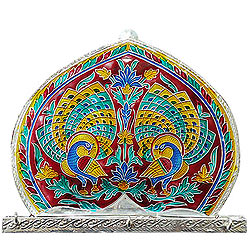 Exquisite Meenakari formed colorful Wall key Hanger