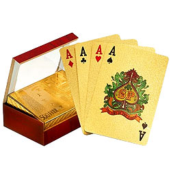 Genuine Gold Plated Playing Cards with Certificate
