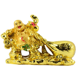 Golden Color Feng Shui Laughing budha With Potli