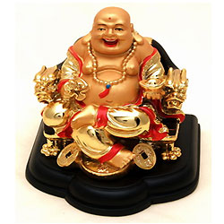 Attractive Laughing Buddha with Best Wishes