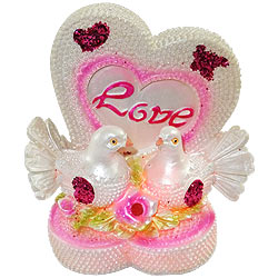 Remarkable LED Lighted Love Heart with Birds Set
