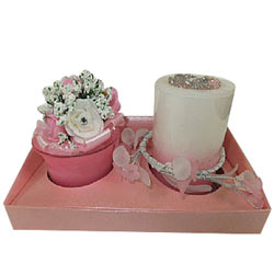 Beauty in Pink Candles Set