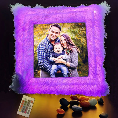 Elegant Personalized LED Cushion