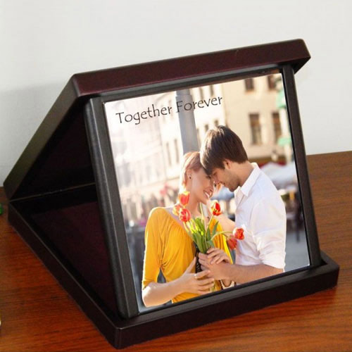 Lovely Personalized Photo Tile in a Case