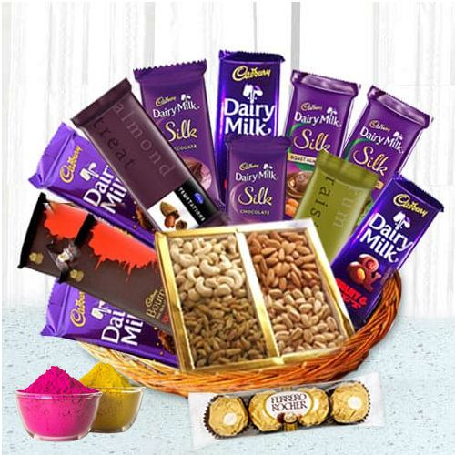 Mesmerizing Chocolate Hamper Basket Love Gift Hamper