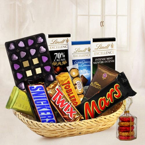 Dark Basket of Choco Crave Chocolates
