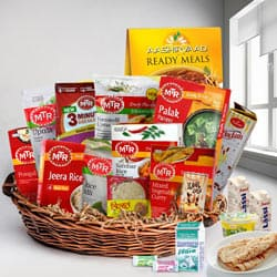 Wholesome Indian Zesty Items Lunch Hamper