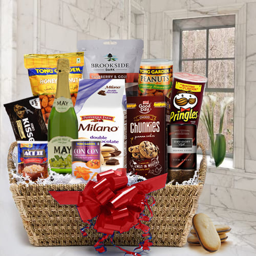 Savory Treat Gourmet Gift Basket for Men