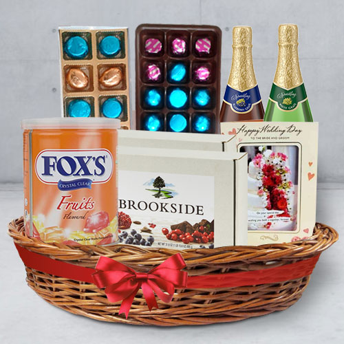 Treat-A Sweet Wedding Special Gift Basket of Assortments