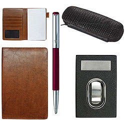 Magnificent Combo of Visiting Card Holder, Multipurpose Passport Holder, Parker Vector Pen and Pen Case