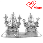Classic Gift of Silver Plated Laxmi Gamesh Idol