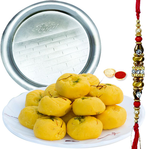 Irresistible Gift of Enticing Pedas with Kesar from Haldirams and a Dynamic Pooja Thali