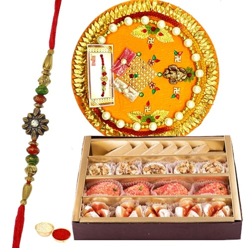 Delightful Haldirams Mixed Sweets Associated with Rakhi Thali