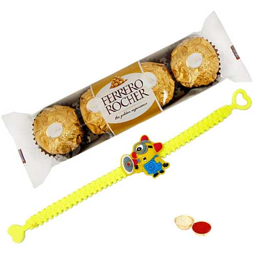 Fabulous Minion Rakhi with Ferrero Rocher Chocolates