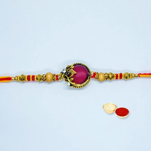 Ecstatic Beaded Rakhi for Loving Brother