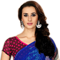 Admirable Marbel Chiffon Saree Printed with Multiple Colors