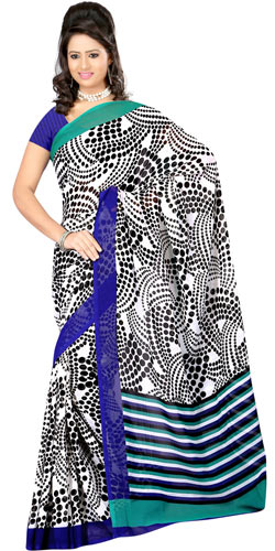 Classic Dani Georgette Saree with Standout Style