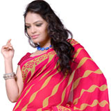 Amazing Georgette Printed Saree with Aesthetic Beauty<br>