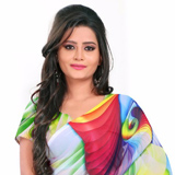 Fascinating Multicoloured Georgette Saree with Digital Print