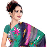 Fascinating Suredeal Branded Georgette Printed Saree